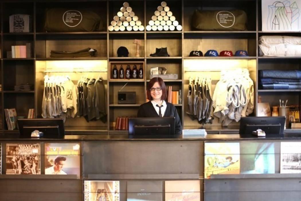 Reception:  Hotels by Elektra Lighting Design,