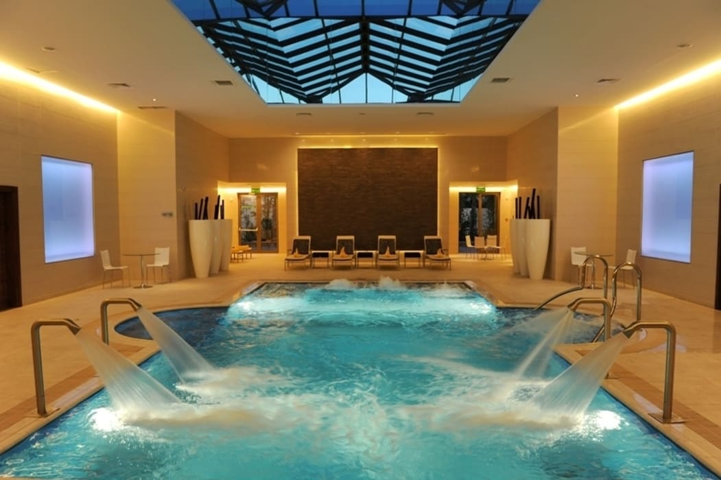 Pool Asian style commercial spaces by Elektra Lighting Design Asian