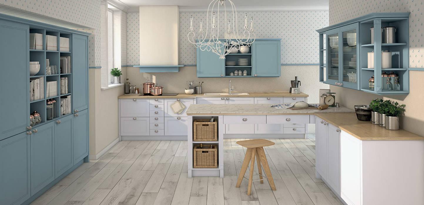 Pronorm Einbauküchen Gmbh ma mattlack artisweiss / ma mattlack blaugrau: landhausstil küche