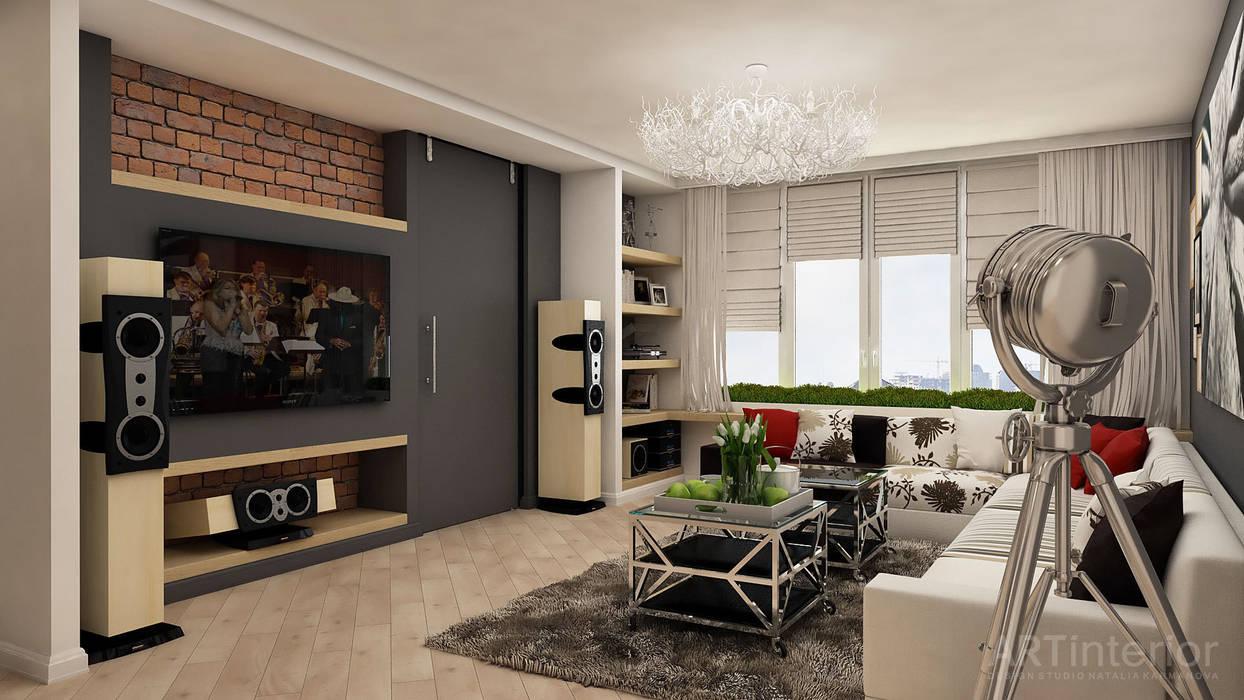 Гостиная в . Автор – «Artinterior» – Студия дизайна интерьера, Модерн
