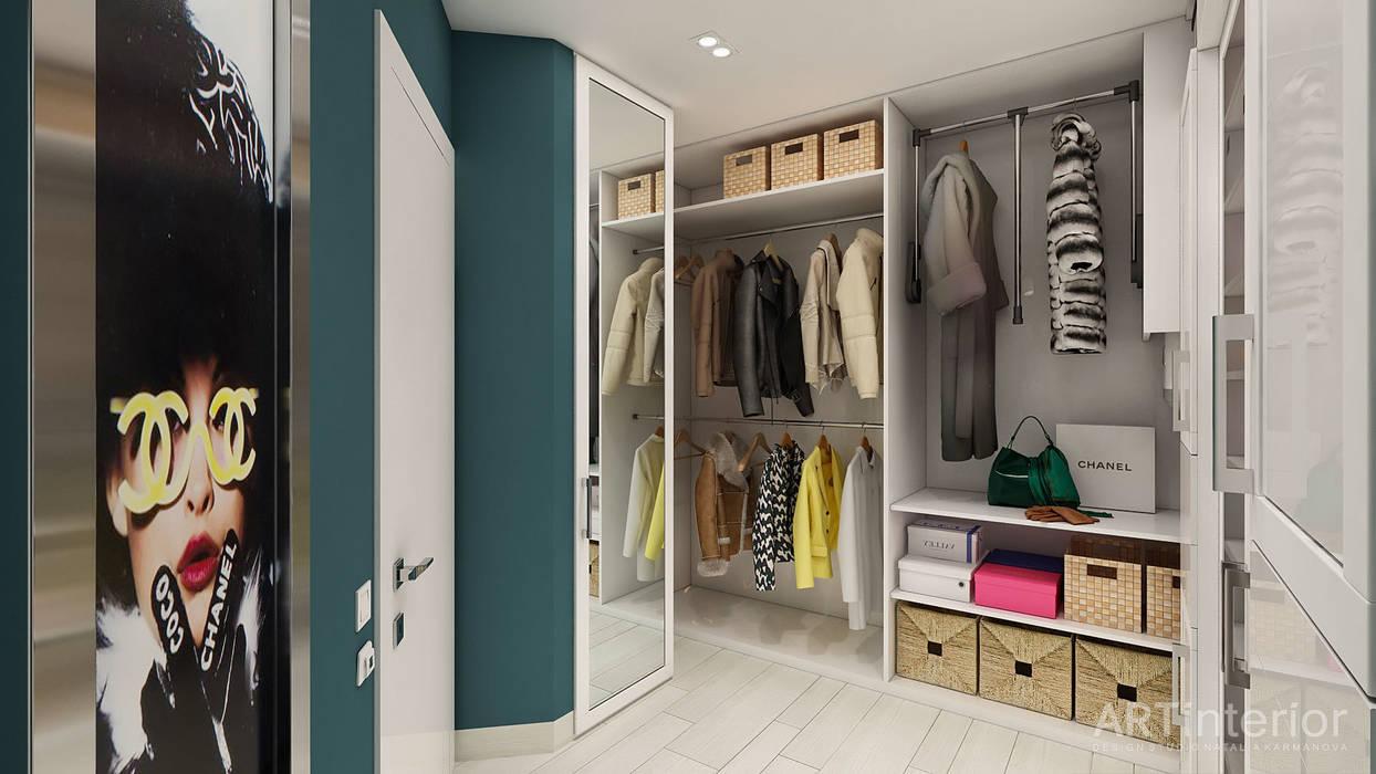 Дизайн интерьера квартиры в Киеве от «Artinterior» «Artinterior» – Студия дизайна интерьера Гардеробная в стиле модерн