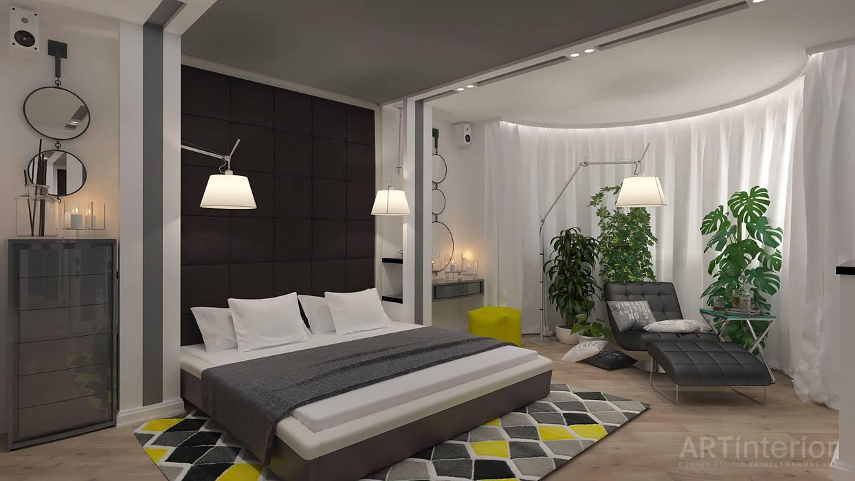 Дизайн интерьера квартиры в Киеве от «Artinterior» «Artinterior» – Студия дизайна интерьера Спальня в стиле модерн