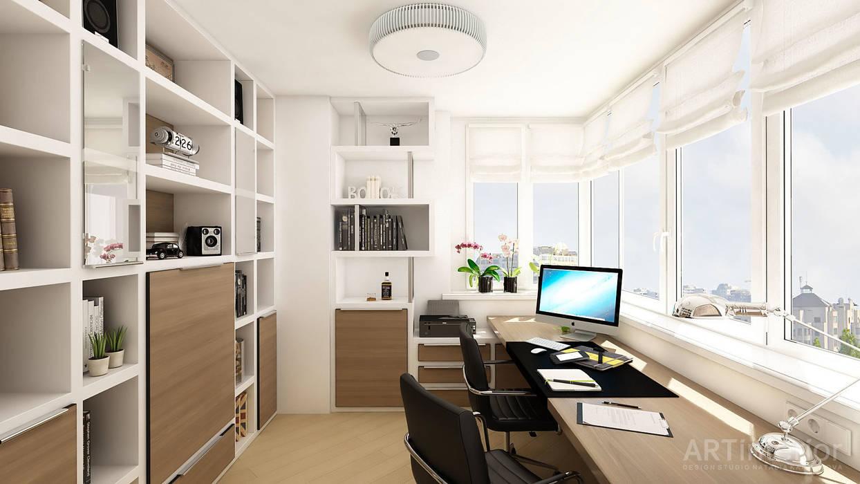 Дизайн интерьера квартиры в Киеве от «Artinterior» Рабочий кабинет в стиле модерн от «Artinterior» – Студия дизайна интерьера Модерн