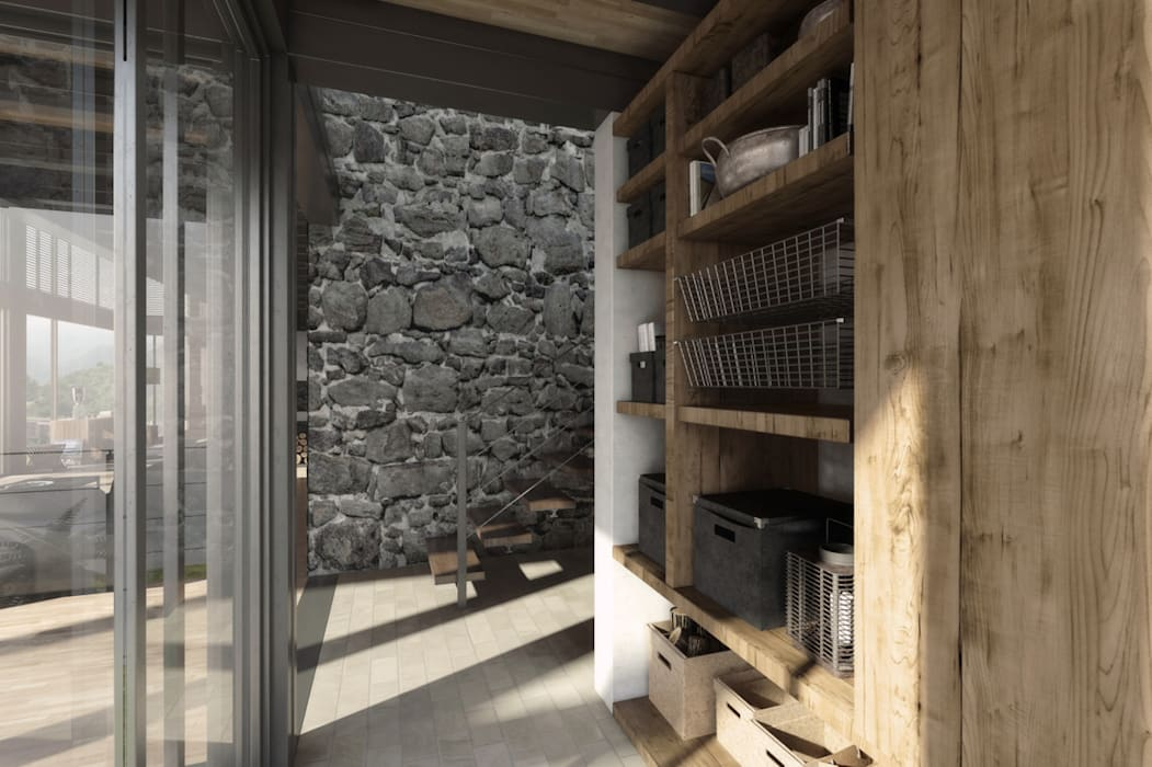 Modern corridor, hallway & stairs by NATURAL LIGHT DESIGN STUDIO Modern