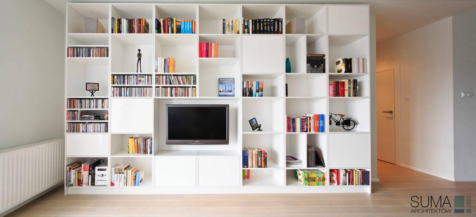MODERN ONE: styl , w kategorii Salon zaprojektowany przez SUMA Architektów