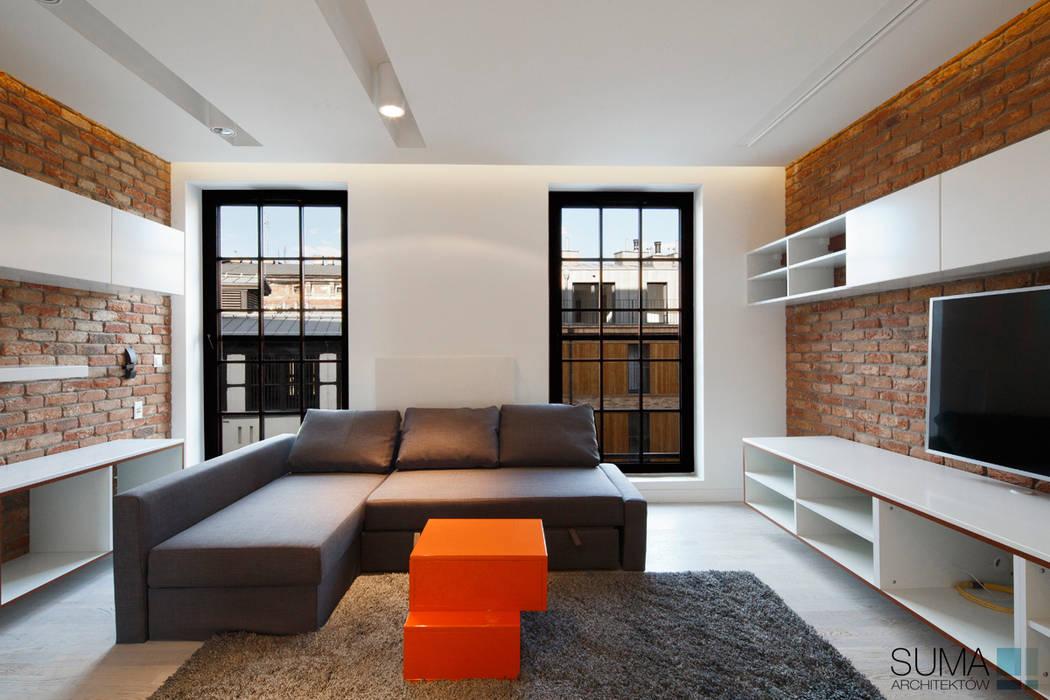 LOFT ONE: styl , w kategorii Salon zaprojektowany przez SUMA Architektów,
