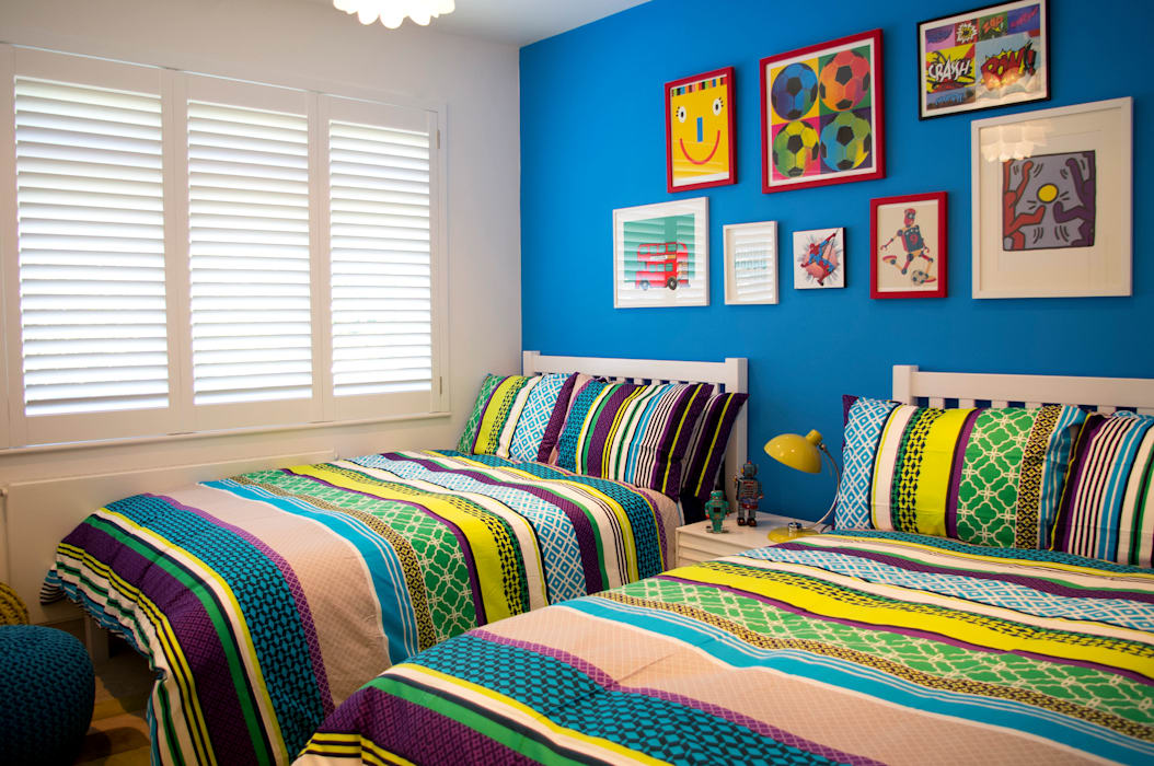 Colourful boys bedroom Modern style bedroom by LLI Design Modern