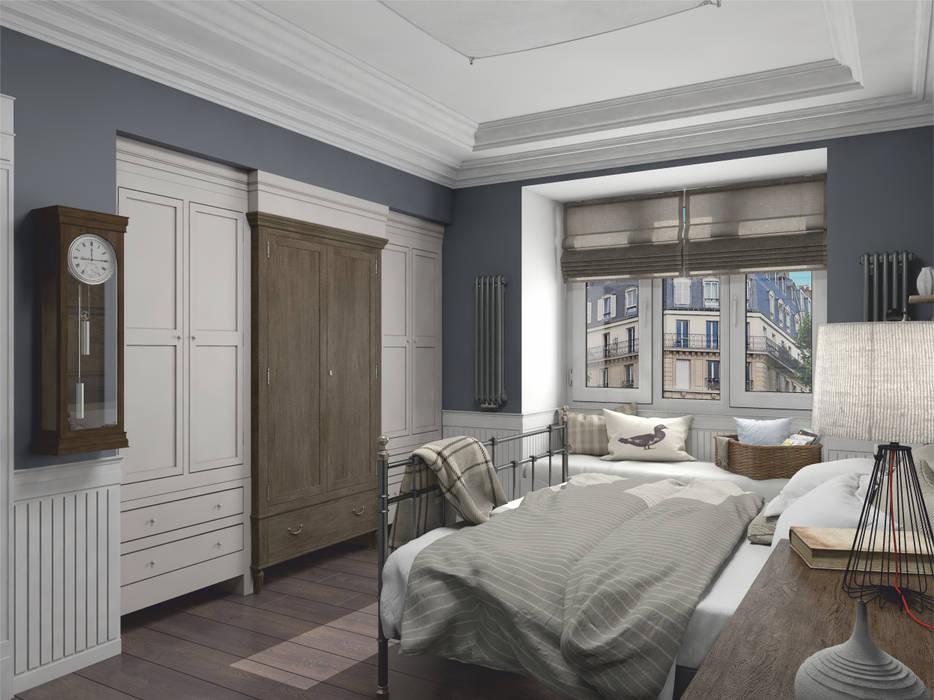 Ausgefallene Schlafzimmer von Aleksandra Kostyuchkova Ausgefallen