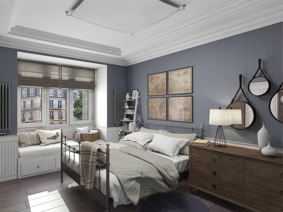 Спальня с мужским характером. Спальня в эклектичном стиле от Aleksandra Kostyuchkova Эклектичный