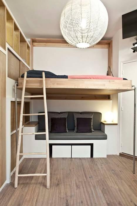Dormitorios de estilo  por Géraldine Laferté, Escandinavo