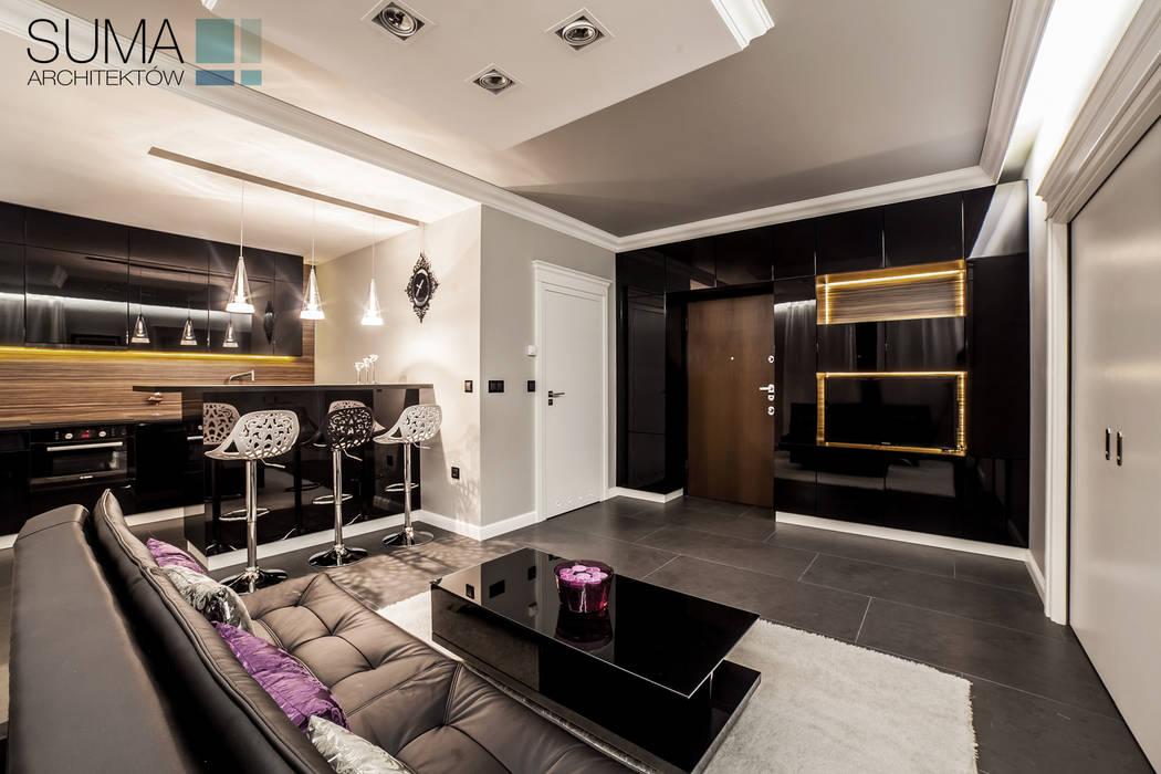CLASSIC ONE: styl , w kategorii Salon zaprojektowany przez SUMA Architektów,