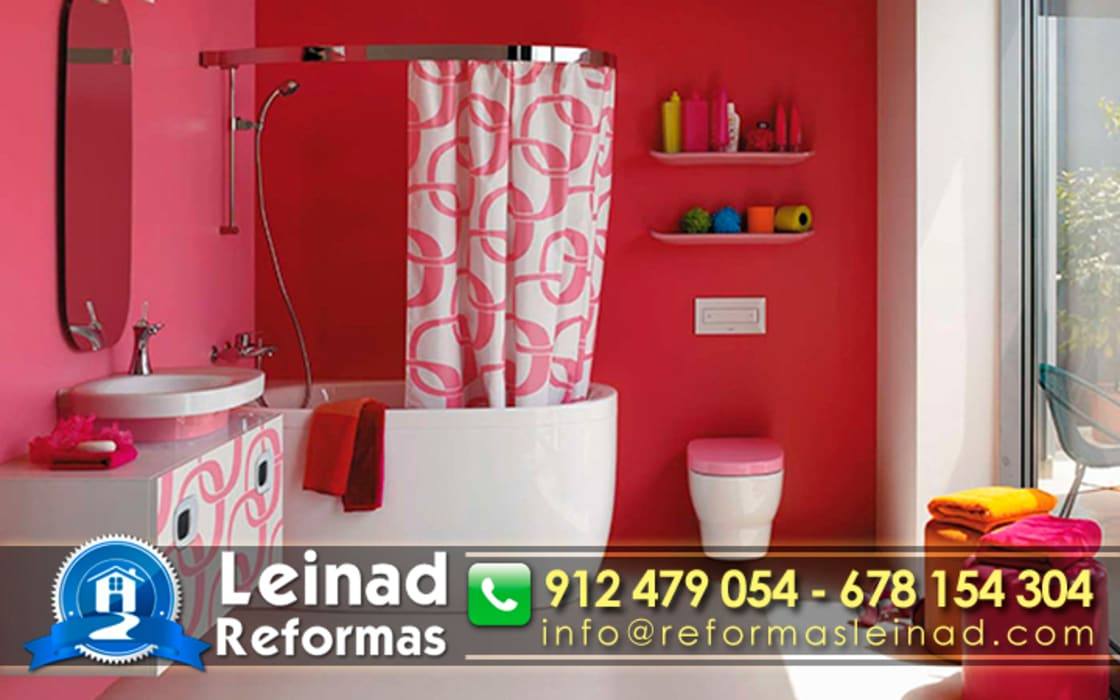 Reformas Leinad - Empresa de reformas en Madrid Baños de estilo moderno de Reformas Leinad Moderno