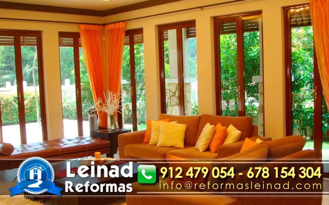 Reformas Leinad - Empresa de reformas en Madrid: Salones de estilo moderno de Reformas Leinad