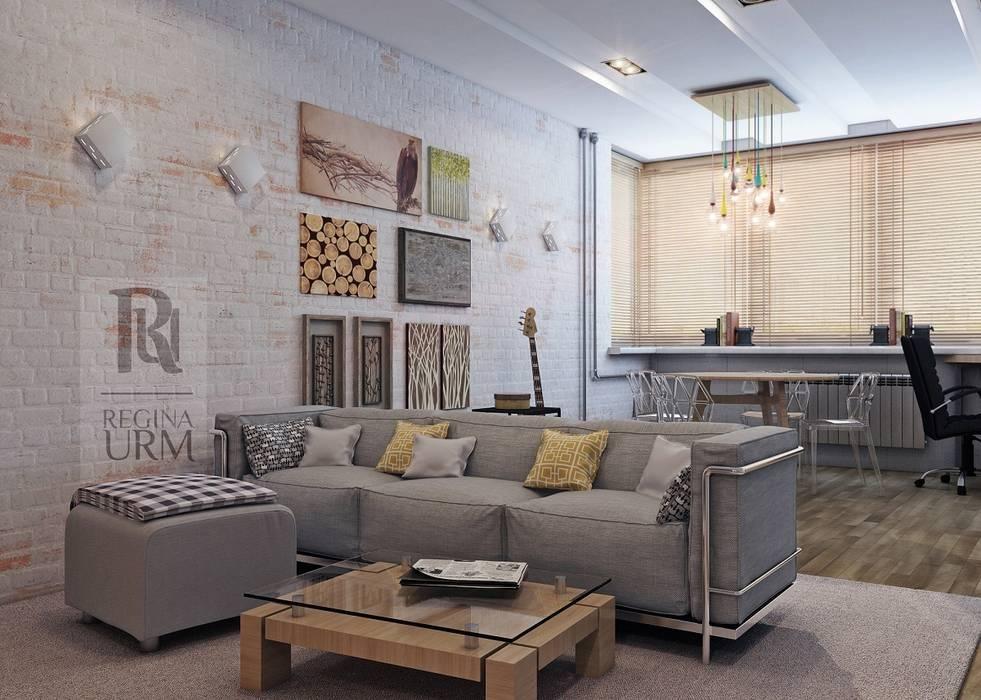 Дизайн проект квартиры в стиле Лофт: Гостиная в . Автор – Урм Регина, Лофт