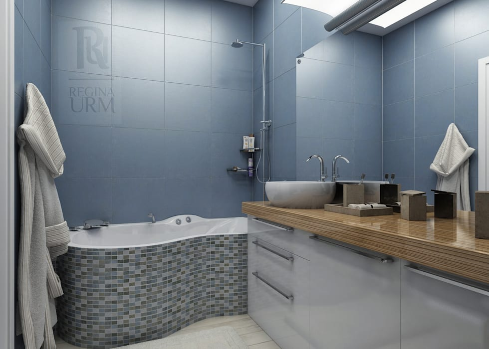 Дизайн проект квартиры в стиле лофт: Ванные комнаты в . Автор – Урм Регина, Лофт