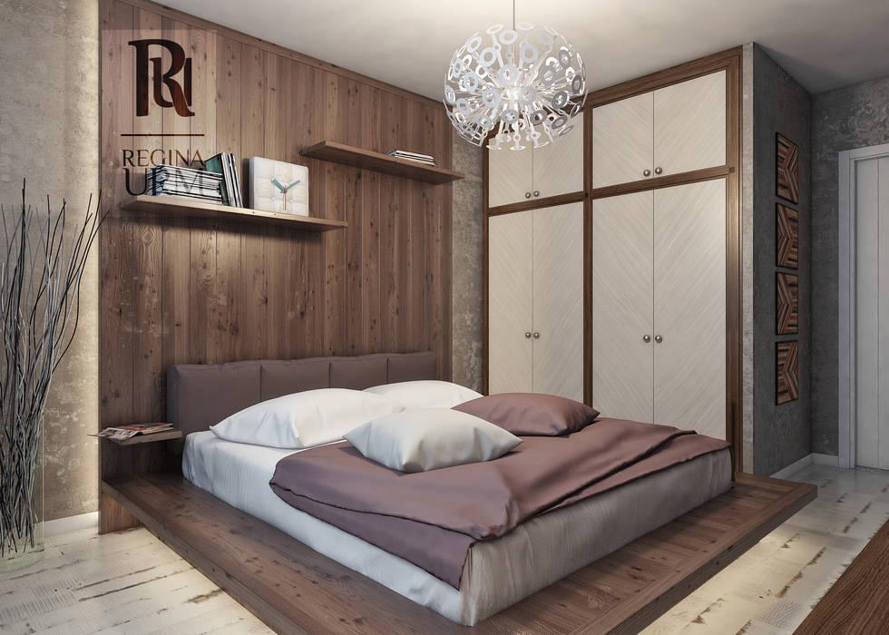 Дизайн проект квартиры в стиле лофт: Спальни в . Автор – Урм Регина