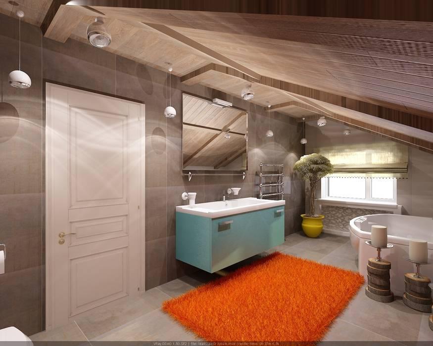 Industrial style bathroom by Студия дизайна Натали Хованской Industrial