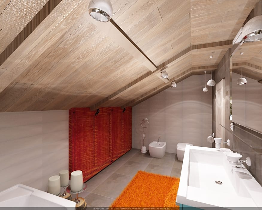 Baños industriales de Студия дизайна Натали Хованской Industrial