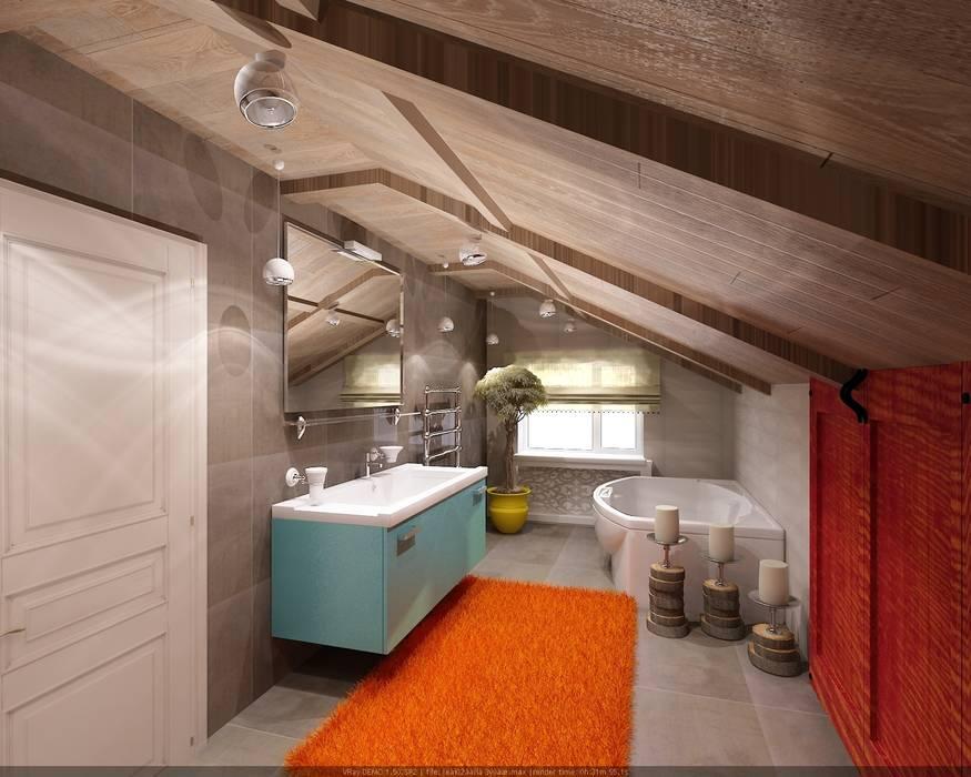Мансарда Ванная в стиле лофт от Студия дизайна Натали Хованской Лофт