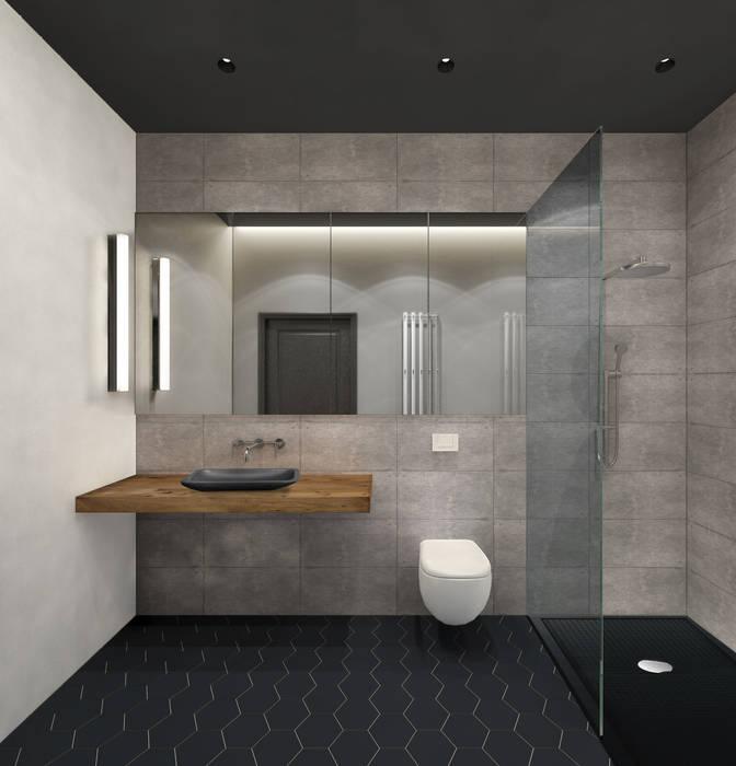Industrial style bathroom by ELENA BELORYBKINA Industrial
