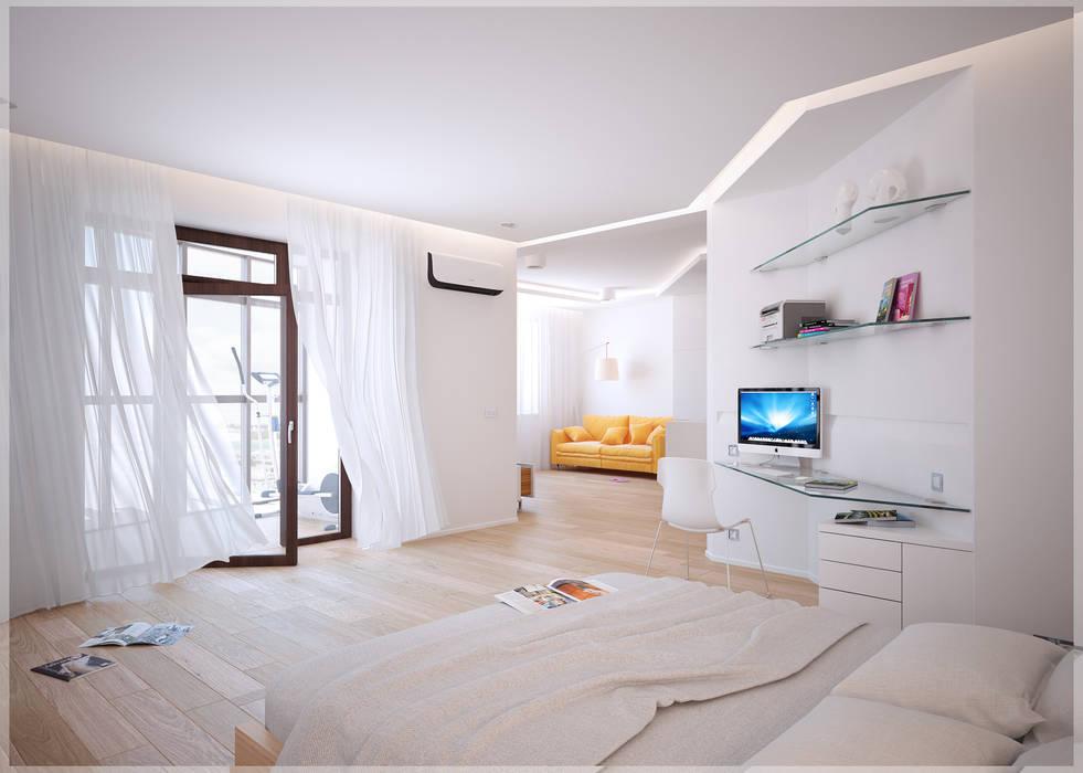 Разумный минимализм: Спальни в . Автор – премиум интериум