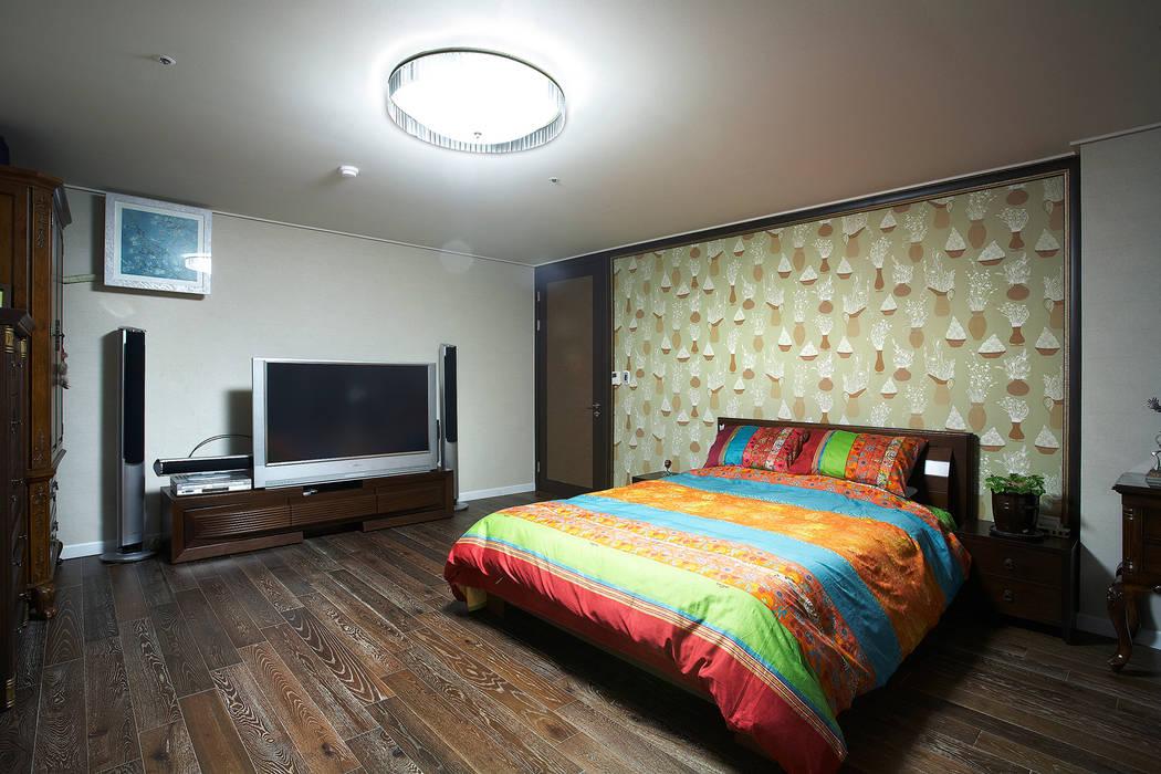 은평 힐스테이트: Hauan의  침실,모던