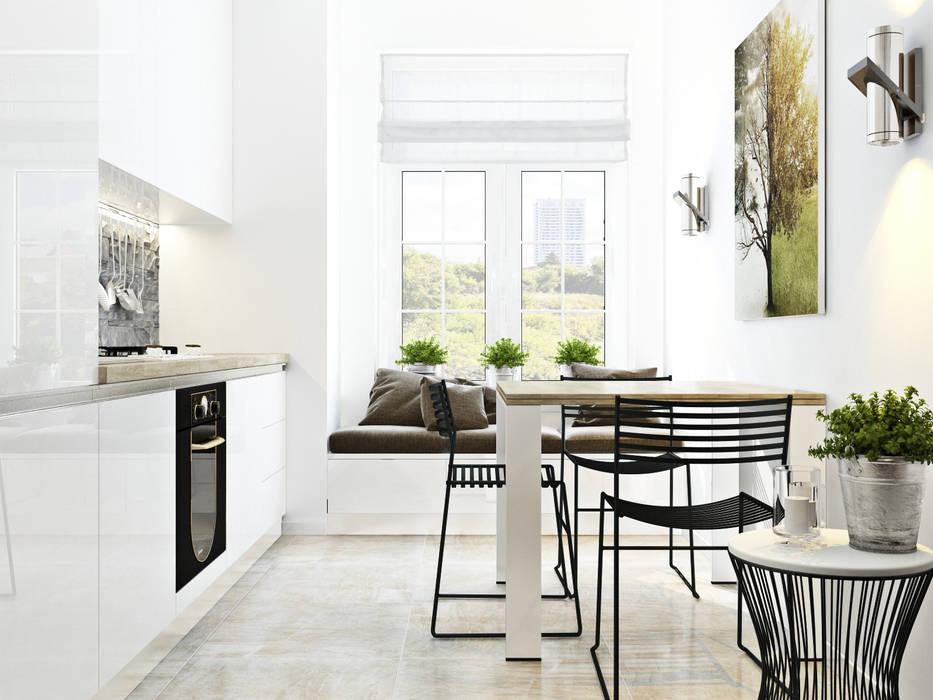Квартира для Европейца Сергей Харенко Кухня в стиле минимализм