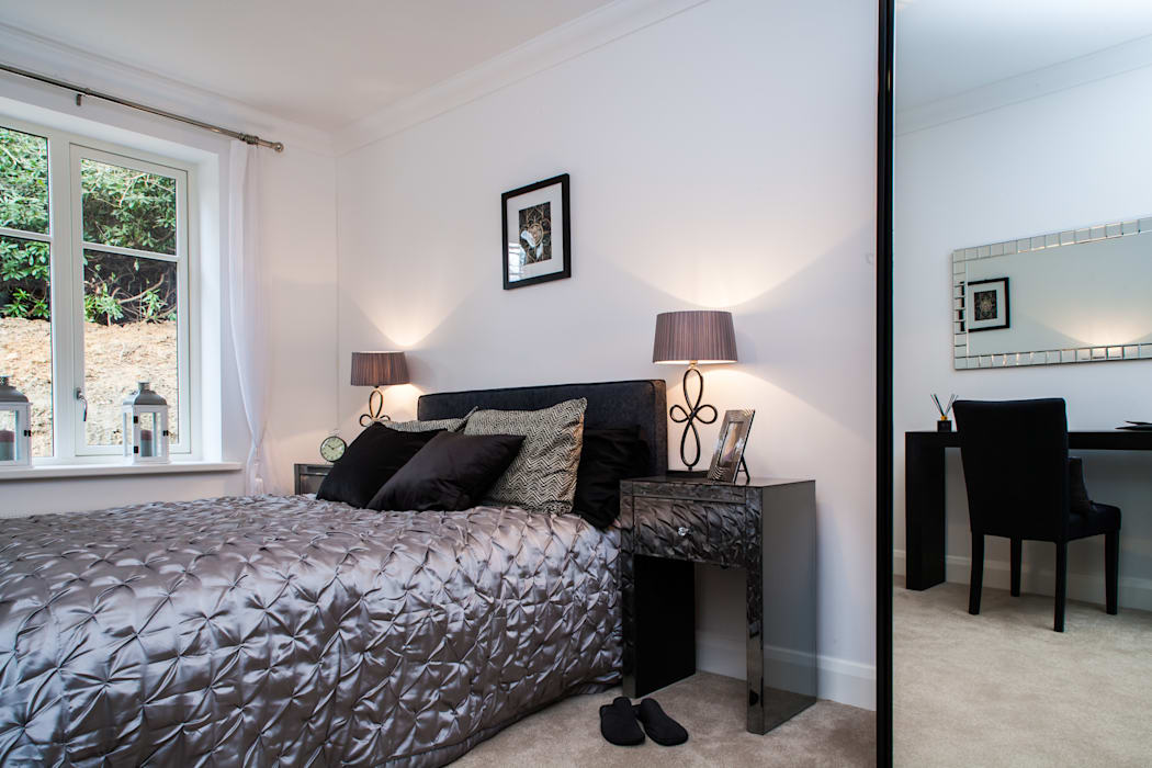 Show flat in Ascot, UK Modern style bedroom by Lujansphotography Modern