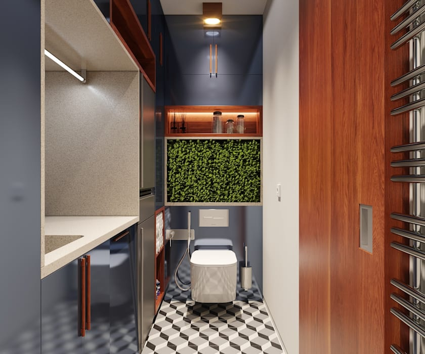 Гостевой санузел Ванная в колониальном стиле от FEDOROVICH Interior Колониальный