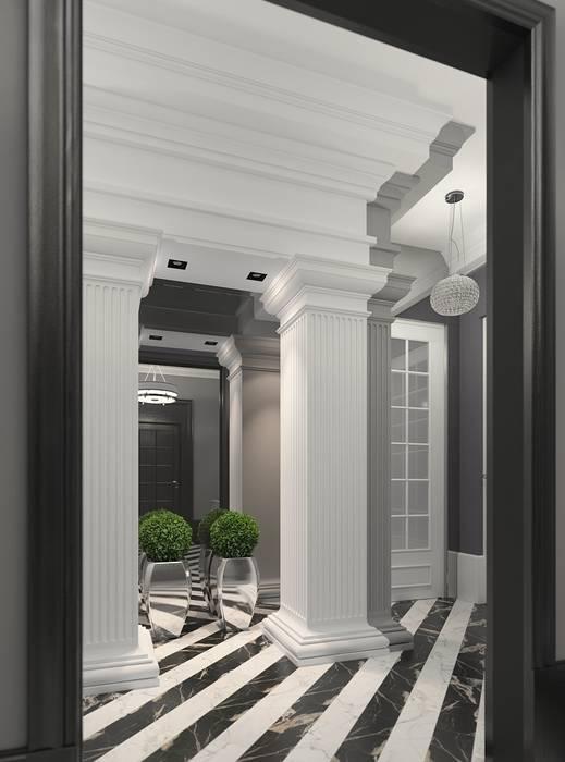 Pasillos, vestíbulos y escaleras clásicas de FEDOROVICH Interior Clásico