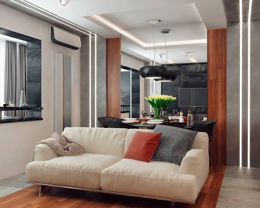 Мария Трифанова Minimalistische Wohnzimmer