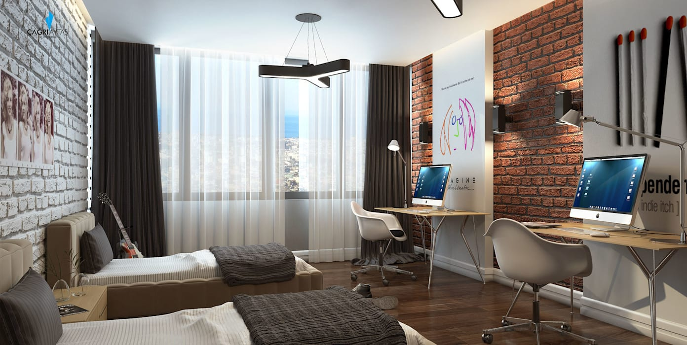 Dormitorios infantiles de estilo  de Çağrı Aytaş İç Mimarlık İnşaat, Moderno