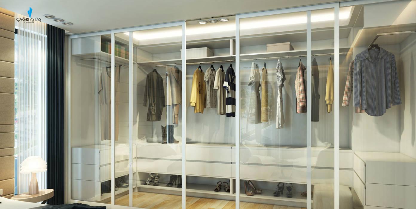 Çağrı Aytaş İç Mimarlık İnşaat – DE LIFE HOMES:  tarz Giyinme Odası,