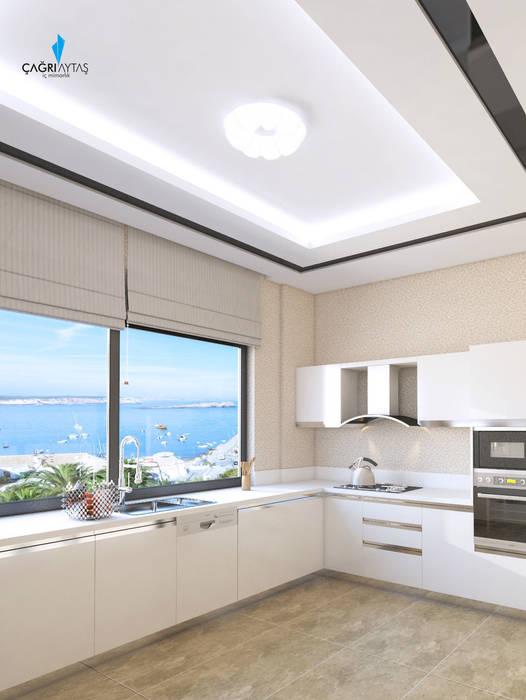 HANEDAN KONUTLARI Modern Mutfak Çağrı Aytaş İç Mimarlık İnşaat Modern