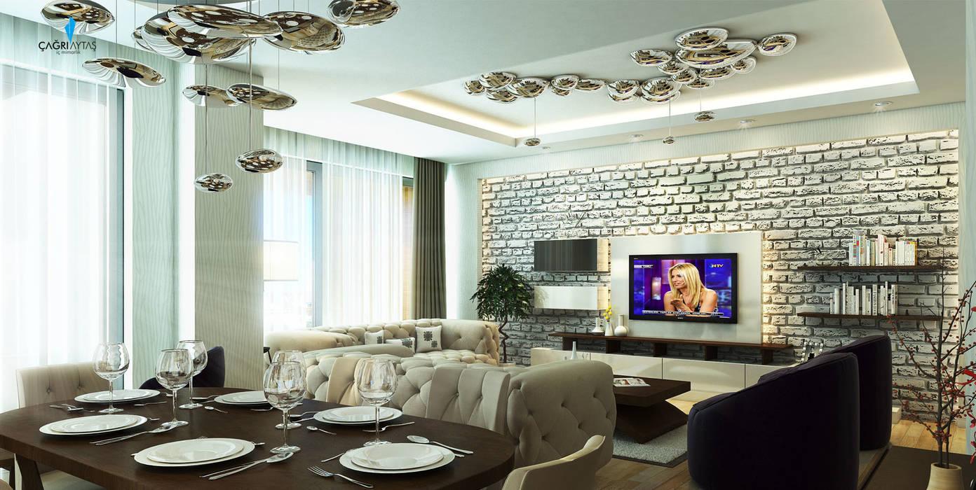 Living room by Çağrı Aytaş İç Mimarlık İnşaat,