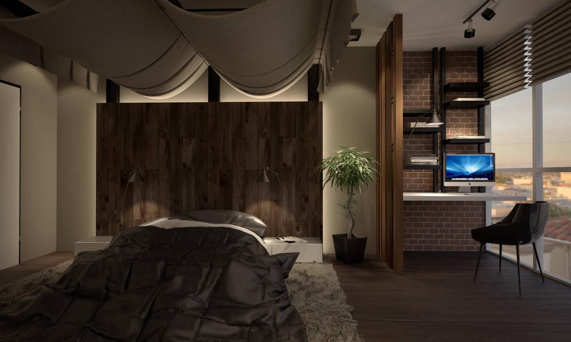 Camera da letto in stile  di Room Краснодар