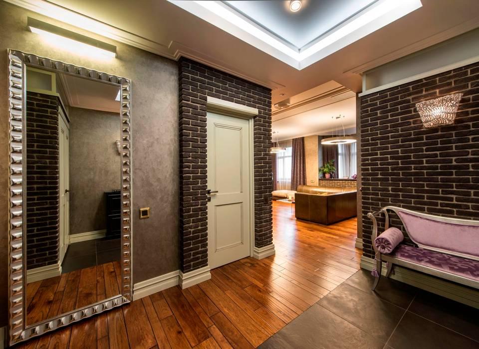 工業風的玄關、走廊與階梯 根據 Studio B&L 工業風