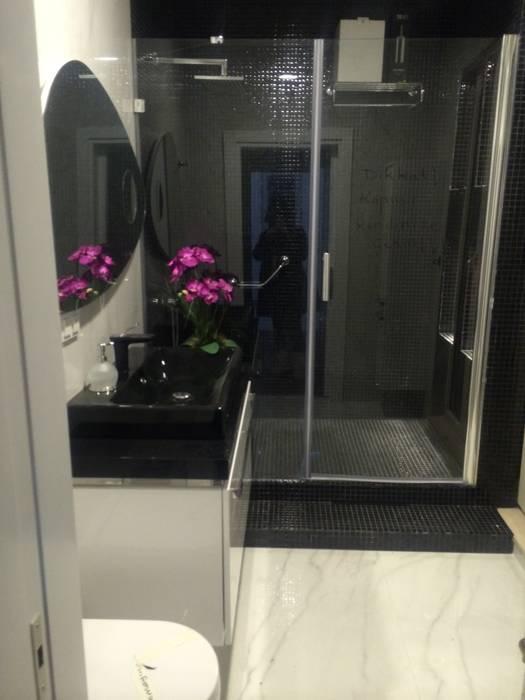 Siyah banyo Modern Banyo Gizem Kesten Architecture / Mimarlik Modern