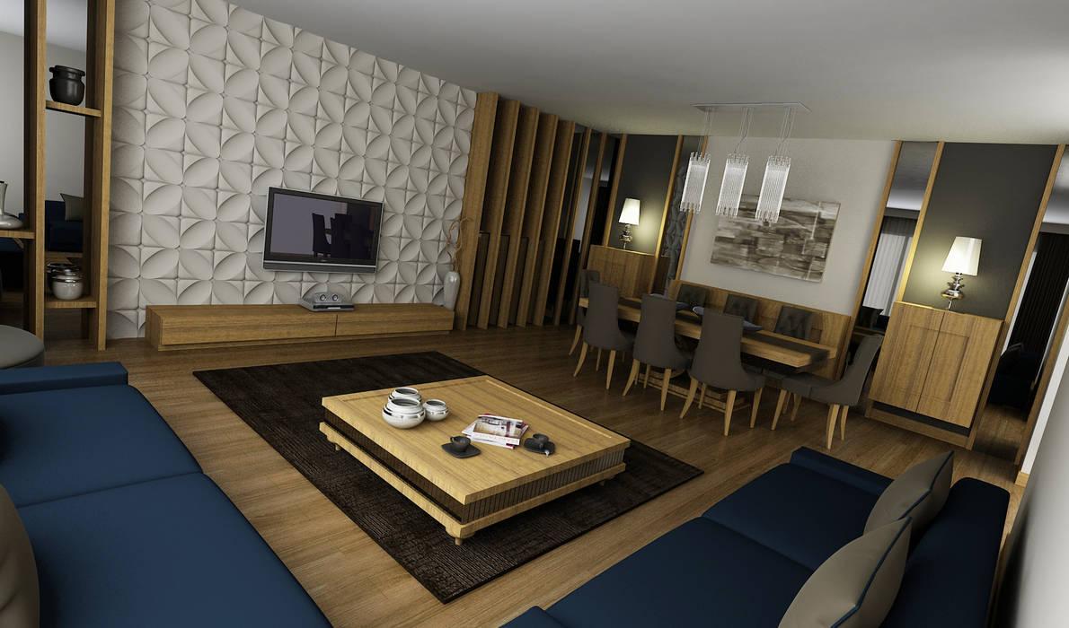 Salas de estar modernas por Niyazi Özçakar İç Mimarlık Moderno