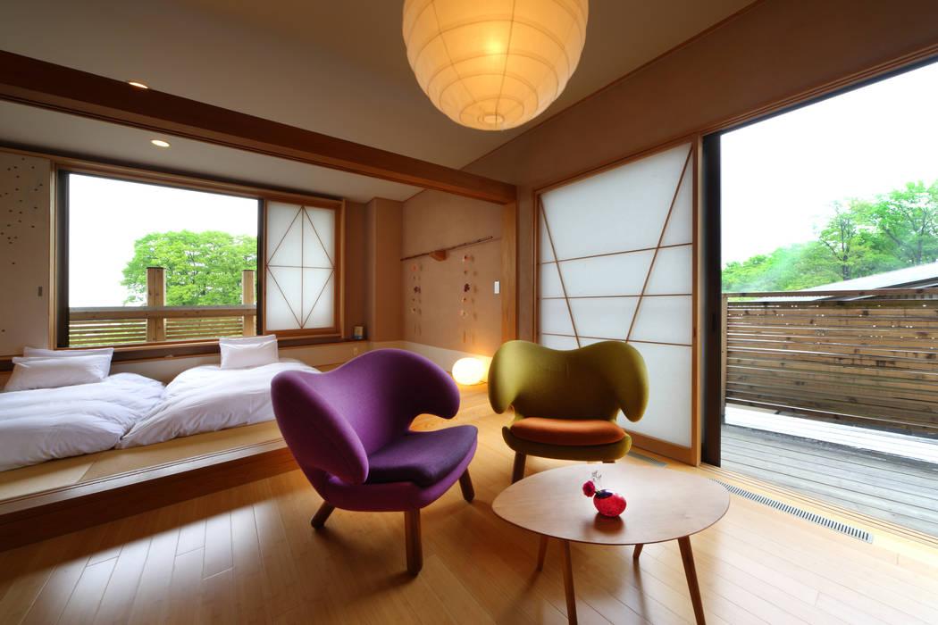 客室 花のあめ : Room  HANANOAME: TAKA建築設計室が手掛けたホテルです。