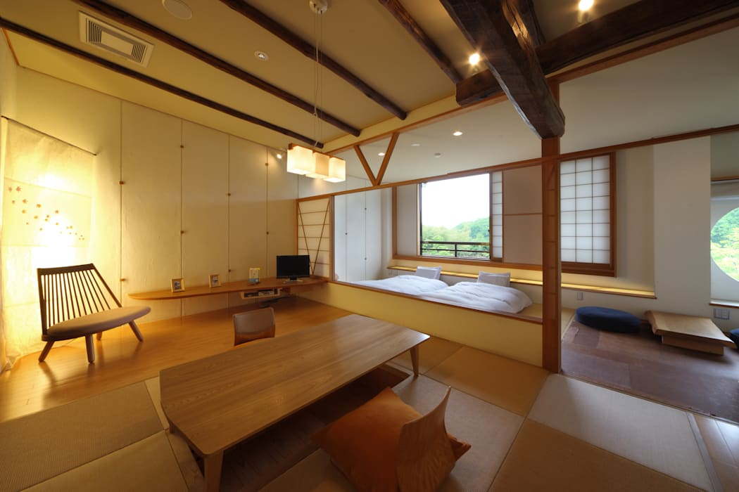 客室 結の米 : Room  YUINOMAI: TAKA建築設計室が手掛けたホテルです。