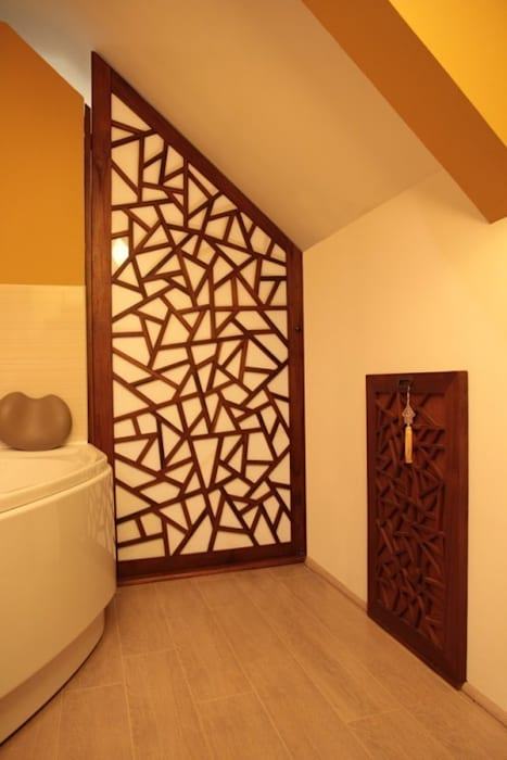 Custom made door Salle de bain originale par Matahati Éclectique