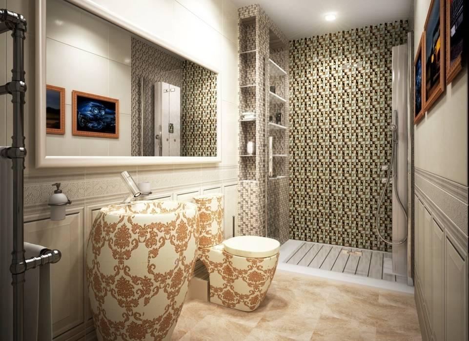 Дизайн интерьера санузла в современном  стиле: Ванные комнаты в . Автор – Альбина Романова