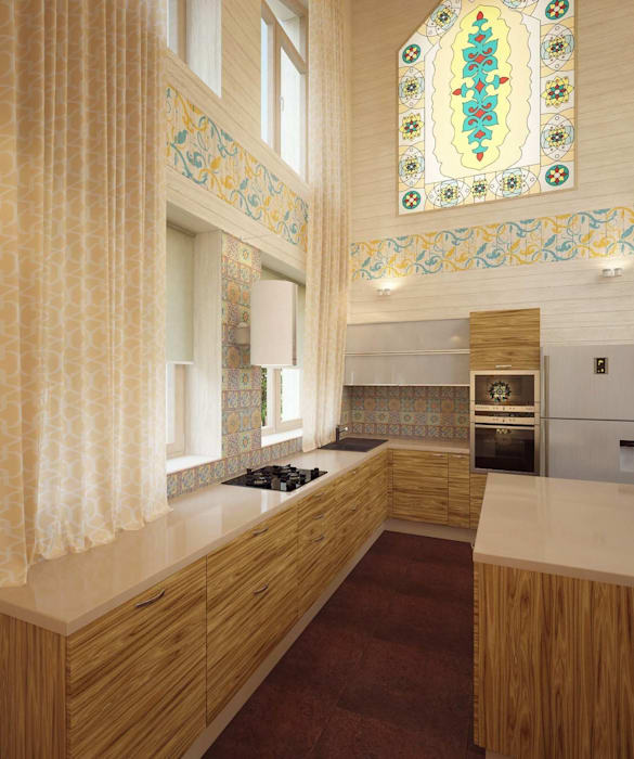 by Студия дизайна интерьера 'Золотое сечение' Eclectic Wood Wood effect