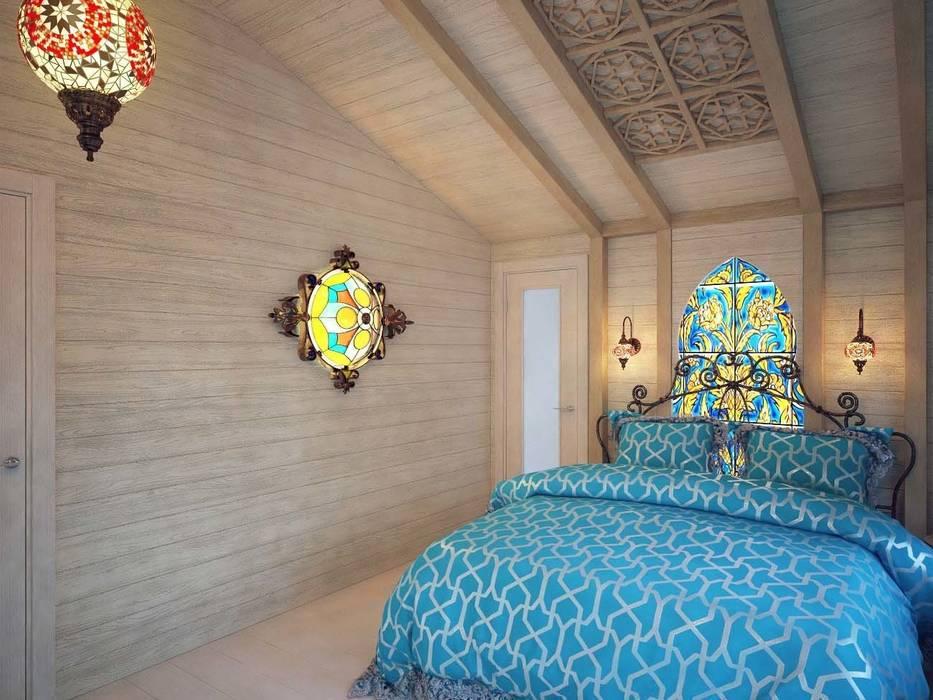 Eclectic style bedroom by Студия дизайна интерьера 'Золотое сечение' Eclectic Wood Wood effect