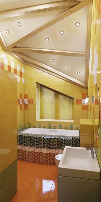 Сказки бывают разные, восточные и не очень... коттедж в Лаишевском районе Ванная комната в эклектичном стиле от Студия дизайна интерьера 'Золотое сечение' Эклектичный Керамика