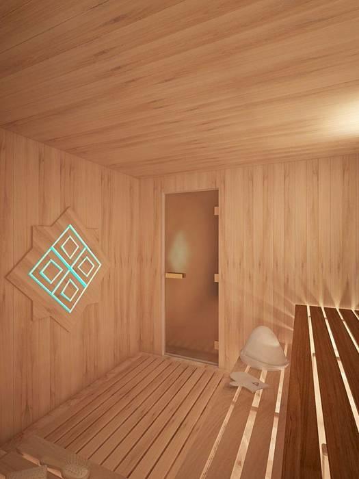 Сказки бывают разные, восточные и не очень... коттедж в Лаишевском районе Спа в стиле минимализм от Студия дизайна интерьера 'Золотое сечение' Минимализм Дерево Эффект древесины