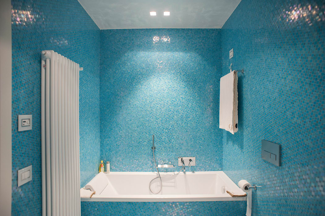 Mosaico bisazza room sas abano terme padova italia: bagno in stile