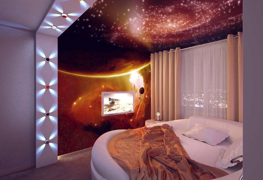 Студия дизайна интерьера 'Золотое сечение' Minimalist bedroom Plastic White
