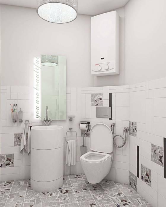 Minimalist bathroom by Студия дизайна интерьера 'Золотое сечение' Minimalist Ceramic